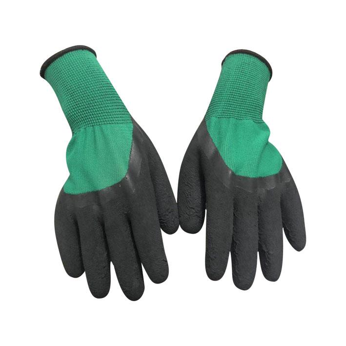 绿纱黑发泡半挂手套