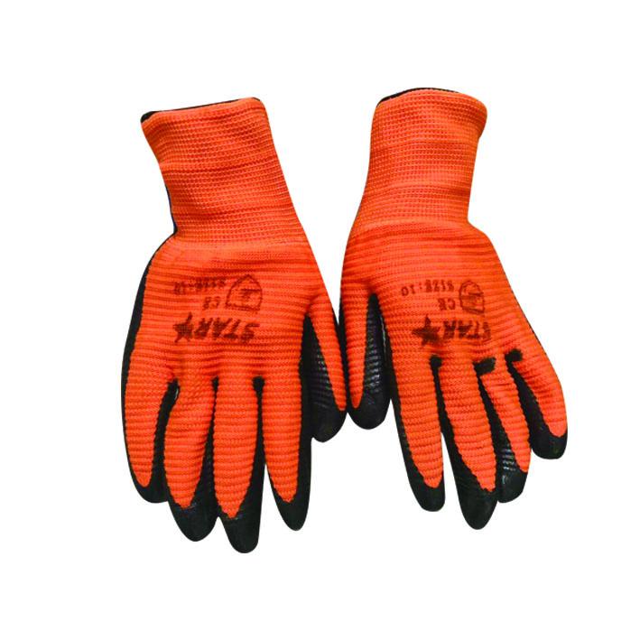 桔纱黑斑马纹手套